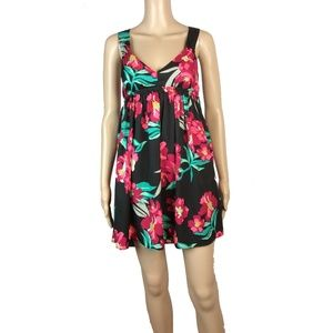 NWOT Roxy open back fit and flare floral dress